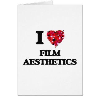 I Love Film Aesthetics Greeting Card