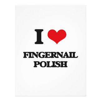 i LOVE fINGERNAIL pOLISH Full Color Flyer