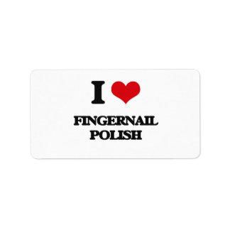 i LOVE fINGERNAIL pOLISH Personalized Address Label