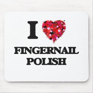 I Love Fingernail Polish Mouse Pad