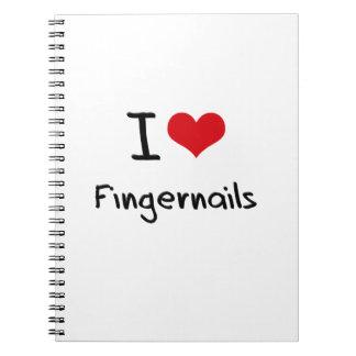 I Love Fingernails Spiral Notebook