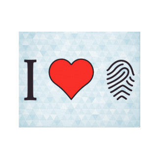 I Love Fingerprinting Gallery Wrapped Canvas