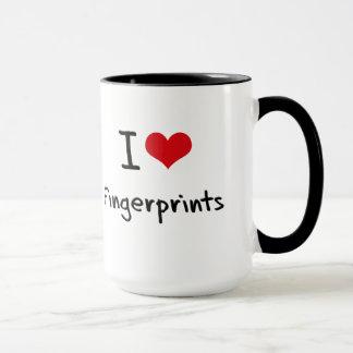 I Love Fingerprints Mug