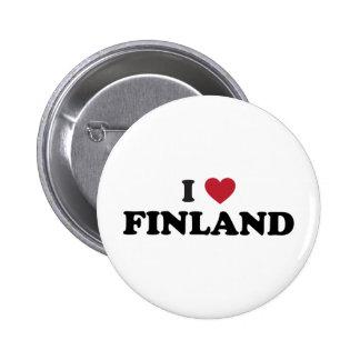 I Love Finland 2 Inch Round Button