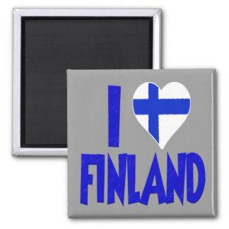 I Love Finland Square Magnet