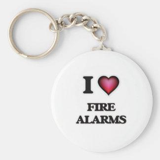 I love Fire Alarms Keychain