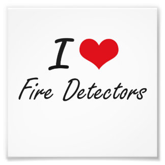 I love Fire Detectors Photographic Print
