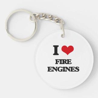 i LOVE fIRE eNGINES Acrylic Key Chain