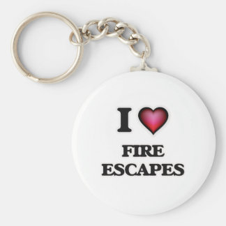 I love Fire Escapes Keychain