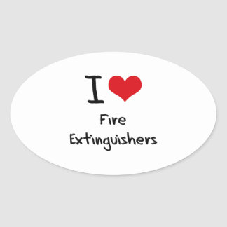 I Love Fire Extinguishers Stickers