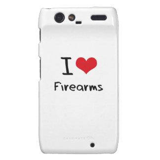 I Love Firearms Droid RAZR Cases