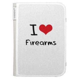 I Love Firearms Kindle Folio Case