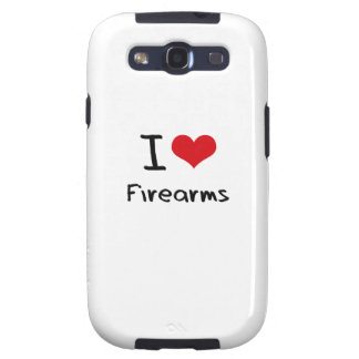 I Love Firearms Galaxy S3 Cases