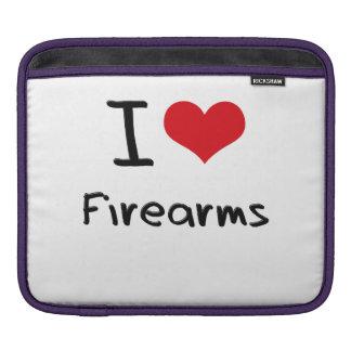 I Love Firearms iPad Sleeves