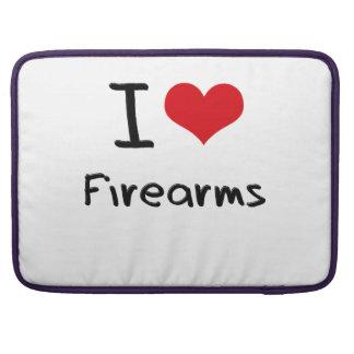 I Love Firearms MacBook Pro Sleeves