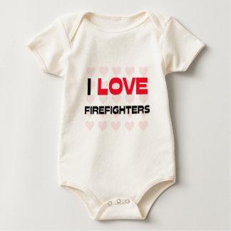 I LOVE FIREFIGHTERS BABY BODYSUIT