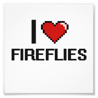 I love Fireflies Digital Design Photo Print