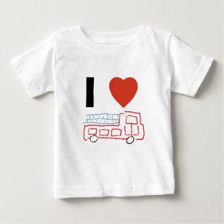I love firetrucks baby T-Shirt