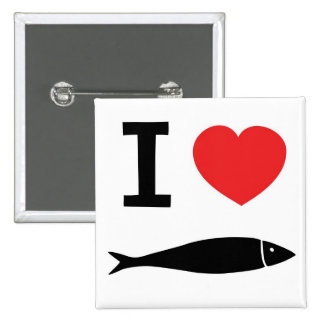 I love fish pinback buttons