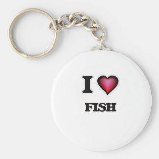I love Fish Keychain
