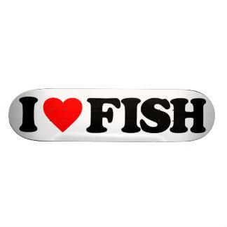 I LOVE FISH SKATE DECK