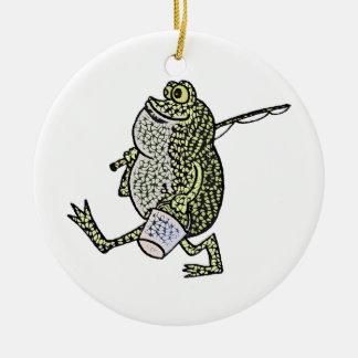 I love fishing! ceramic ornament