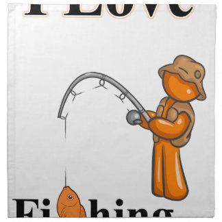 I Love Fishing Napkin