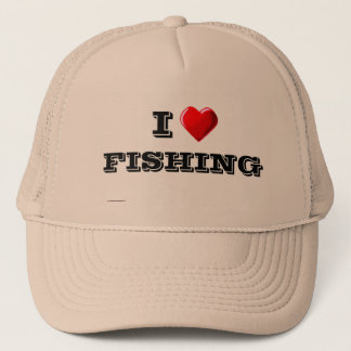 I Love FISHING Trucker Hat