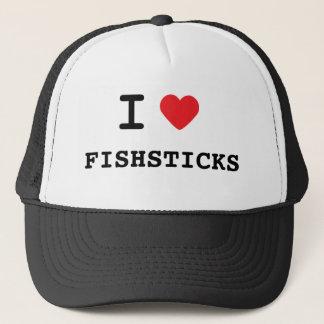 I LOVE FISHSTICKS TRUCKER HAT