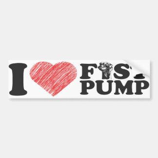 I Love Fist Pump Heart Art BumperStickers Bumper Sticker