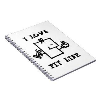 I Love Fit Life Meepples Notebook