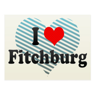 I Love Fitchburg, United States Postcard