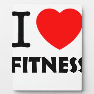 I Love Fitness Plaque