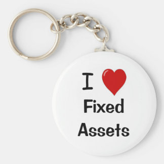 I Love Fixed Assets - I Heart Fixed assets Keychain