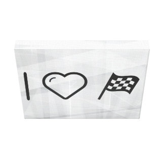 I Love Flag Assigns Gallery Wrapped Canvas
