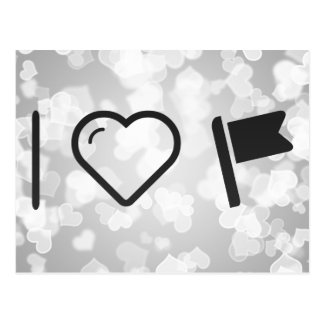 I Love Flag Inserts Postcard