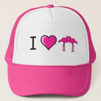 I Love Flamingos Hat