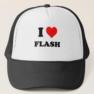 I Love Flash Trucker Hat