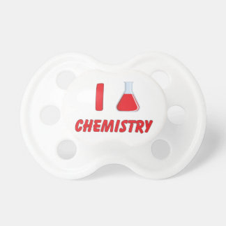I Love (flask) Chemistry Baby Pacifiers