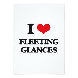 "i LOVE fLEETING gLANCES 5"" X 7"" Invitation Card"