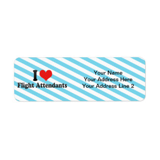 I Love Flight Attendants Return Address Label