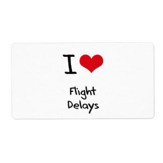 I Love Flight Delays Shipping Label