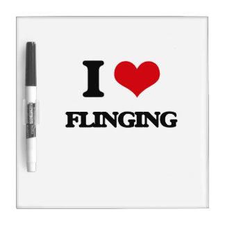 i LOVE fLINGING Dry Erase Whiteboard