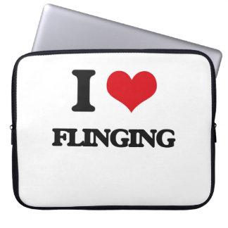 i LOVE fLINGING Laptop Sleeve