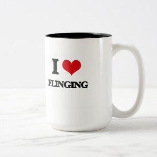 i LOVE fLINGING Mugs