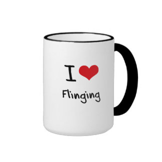 I Love Flinging Coffee Mug