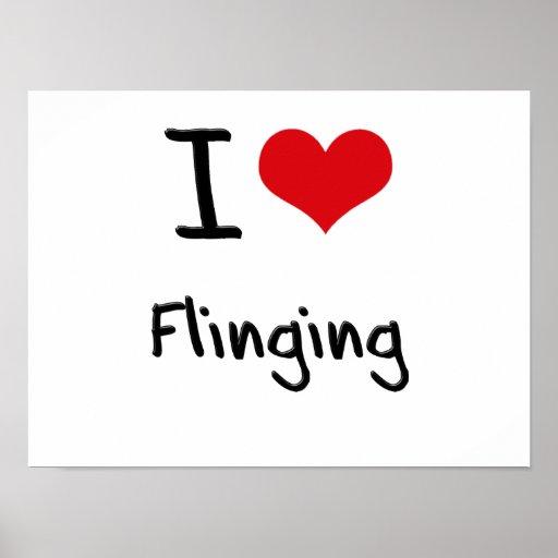 I Love Flinging Print