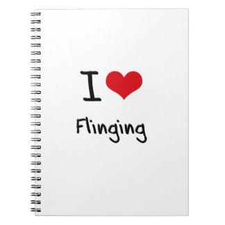 I Love Flinging Spiral Note Books