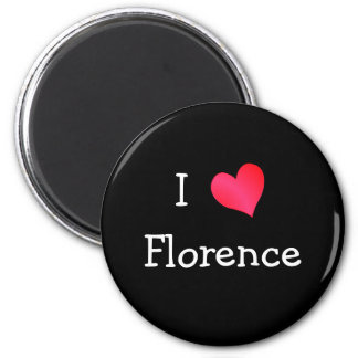 I Love Florence 2 Inch Round Magnet