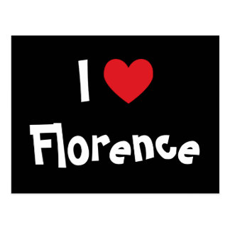 I Love Florence Postcard